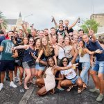Pietermaai district Feest studenten en stagaires